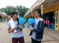 As a part of the annual tradition, students of the 11th grade physics class went on a trip to Six Flags. This year the trip was held on Friday, June 3rd. All trips need an educational purpose and the purpose of the physics trip was to apply and experience the concepts of physics that were discussed in class. Picture attribution to Kay Kim.