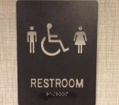 New guidelines require schools to allow transgender students to use the restroom and locker rooms that correspond to their chosen gender, and not the one written on their birth certificate. Picture attribution to Ted Eytan on Flickr.