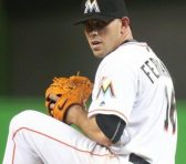 Miami Marlin's pitcher, José Fernández died at 24 years of age in a boating accident. Photo attribution to @JDFernandez16 on Twitter.